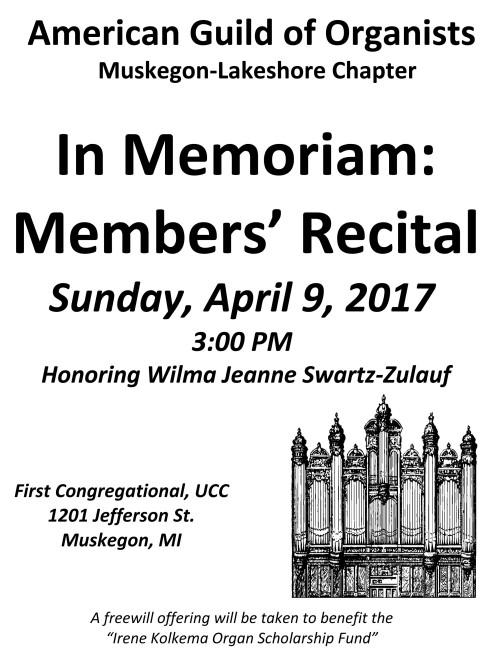 Members' Recital 2017 Poster Final