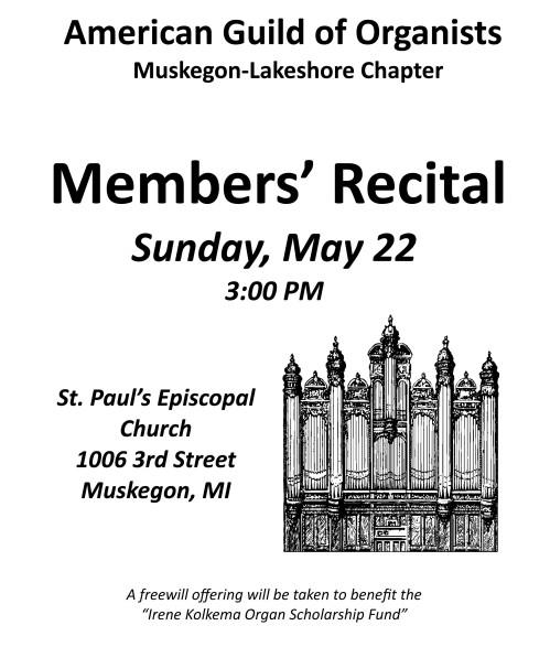 Members' Recital 2016 Poster
